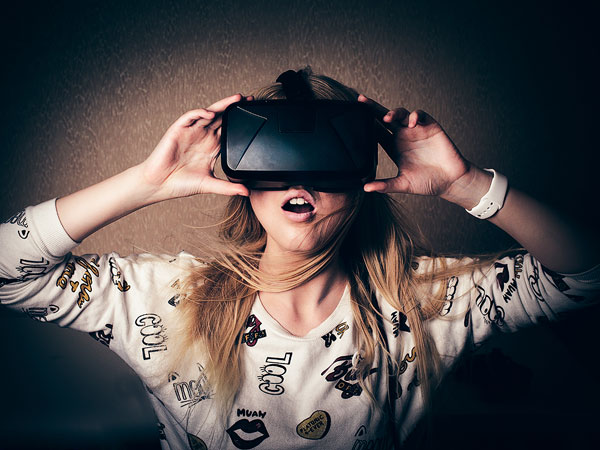 Women Using VR Headset