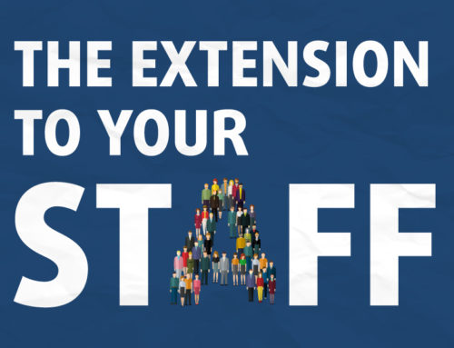 The extension to your staff