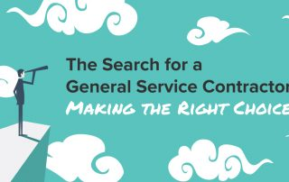 The search for a general service contractor